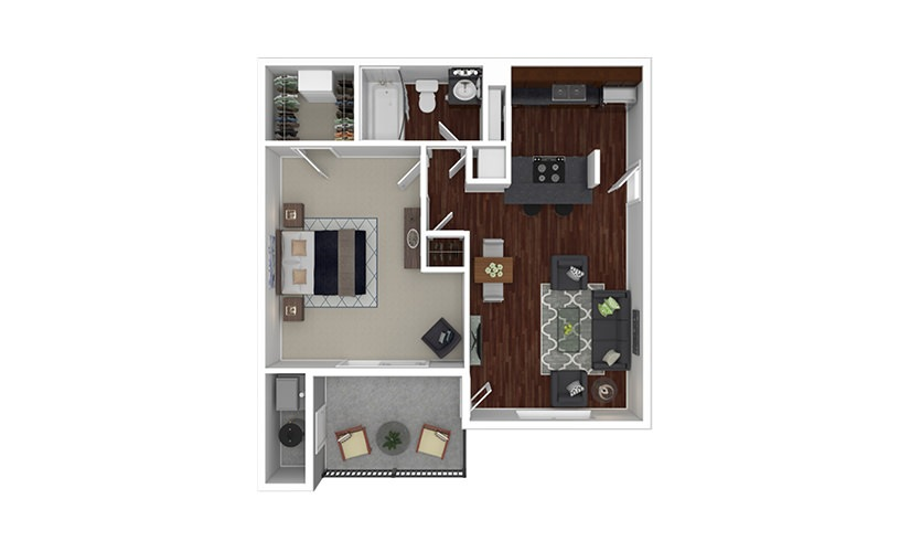 Gardenia 1 bedroom 1 bath 680 square feet