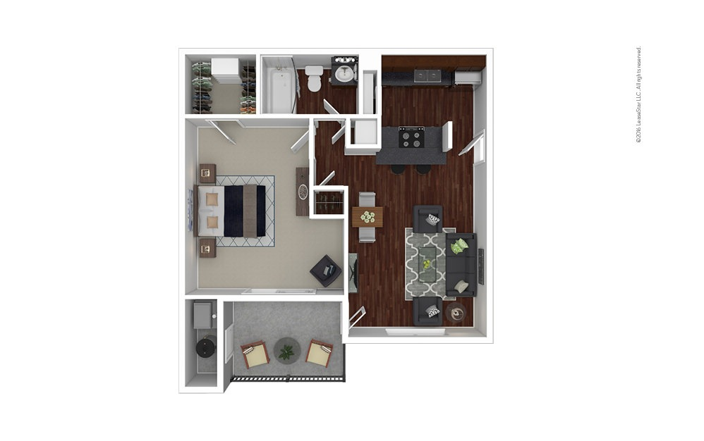 Gardenia 1 bedroom 1 bath 680 square feet