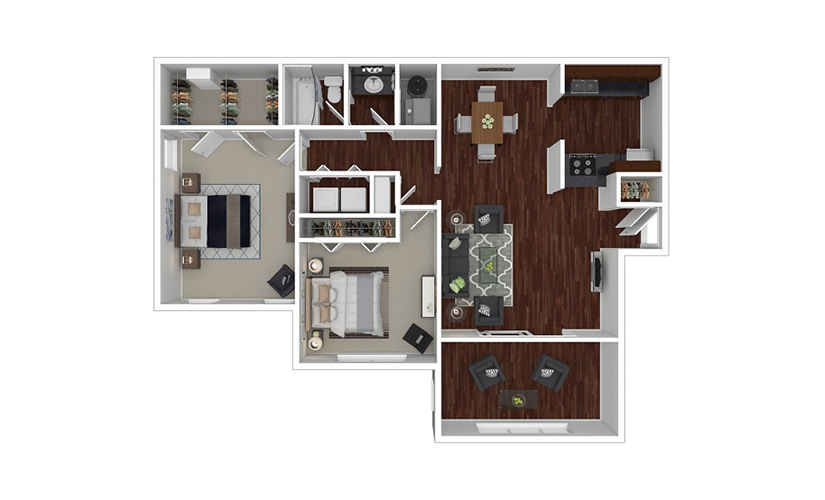 Jasmine 2 bedroom 1 bath 1100 square feet