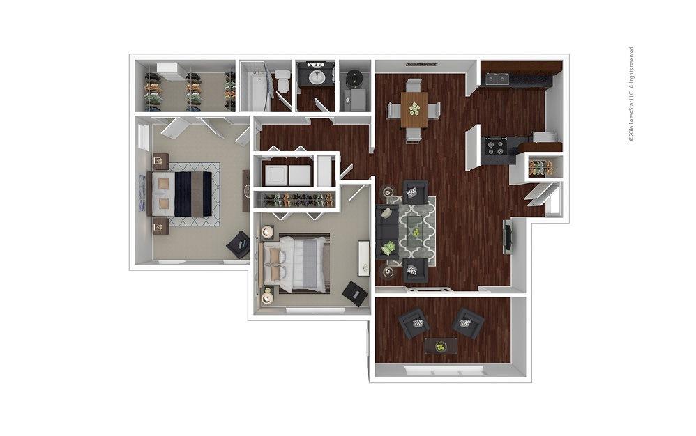 Jasmine 2 bedroom 1 bath 1100 square feet