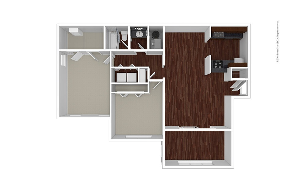 Jasmine 2 bedroom 1 bath 1100 square feet (1)