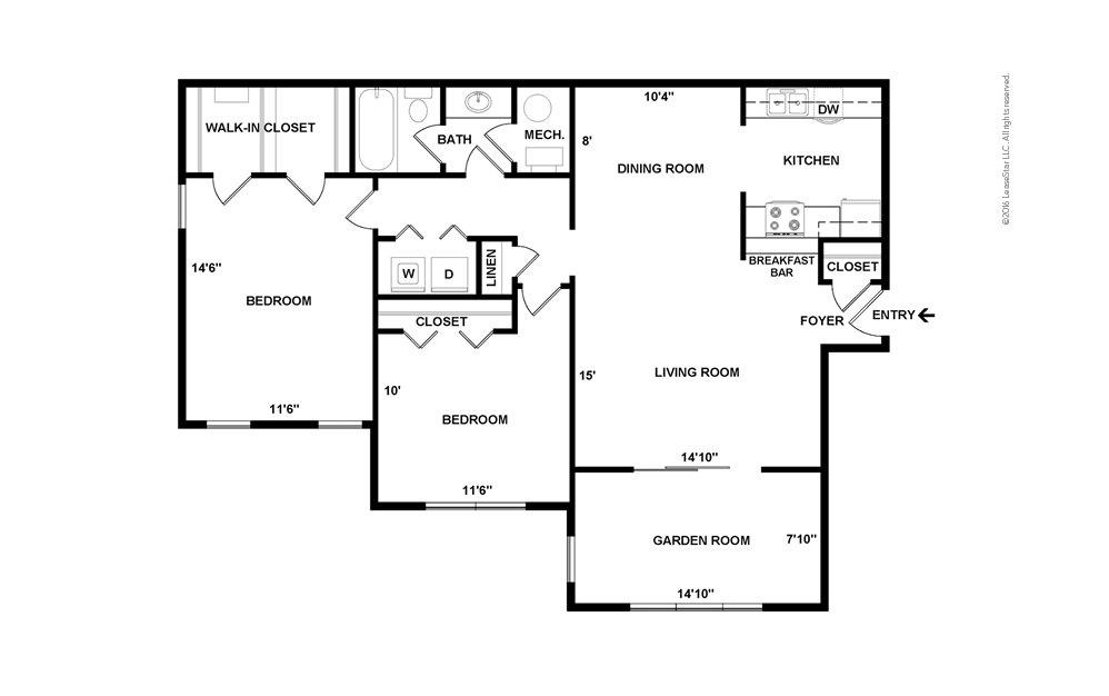 Jasmine 2 bedroom 1 bath 1100 square feet (2)