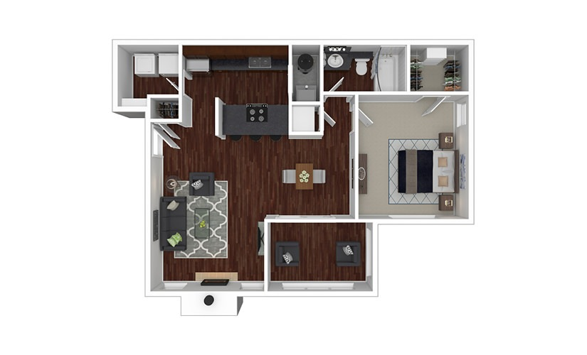 Magnolia 1 bedroom 1 bath 840 square feet