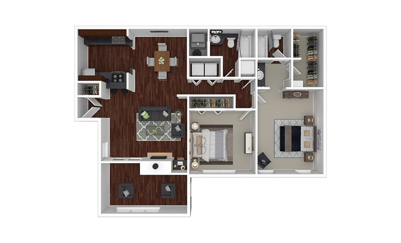 Savannah 2 bedroom 2 bath 1210 square feet