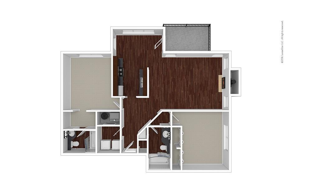 Wisteria 2 bedroom 2 bath 1225 square feet (1)
