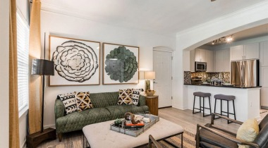 Spacious apartment floor plan at Cortland Vizcaya in West Houston