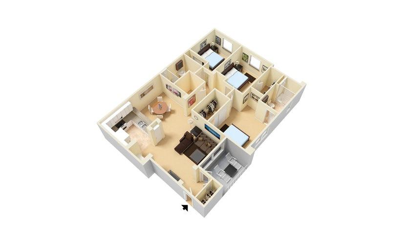 The Del Mar - Renovated 3 bedroom 2 bath 1395 square feet