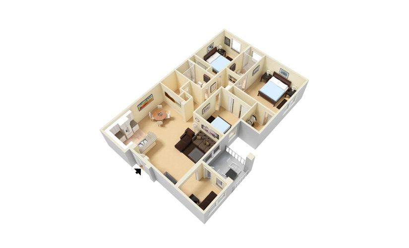 The La Jolla - Renovated 3 bedroom 2 bath 1393 square feet