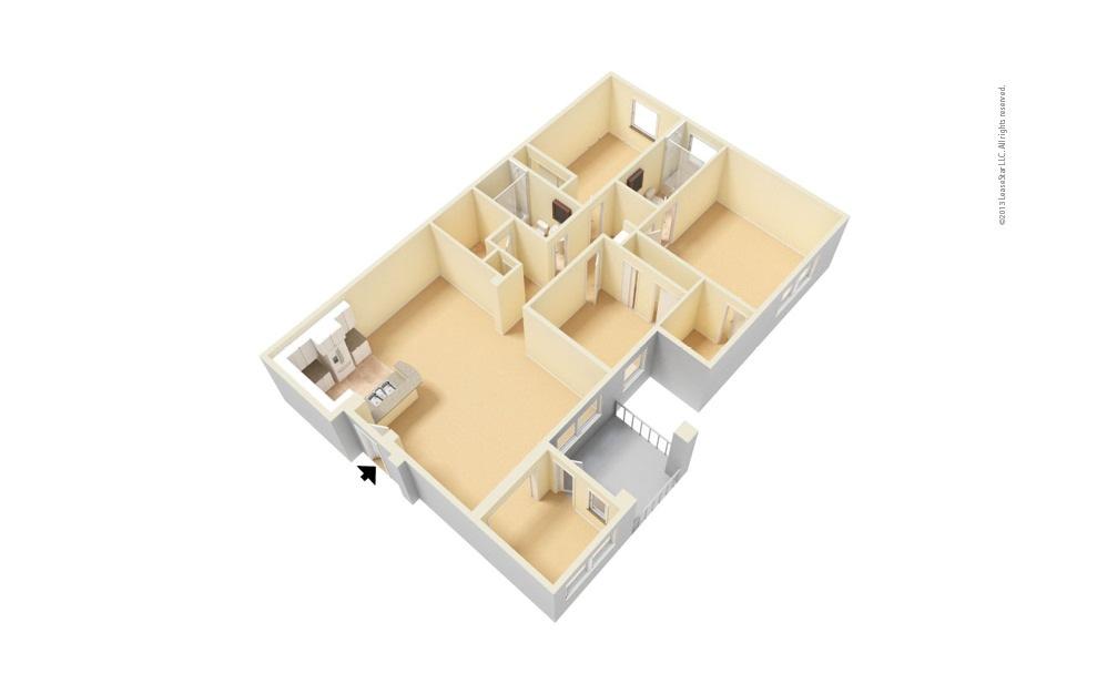 The La Jolla - Renovated 3 bedroom 2 bath 1393 square feet (1)