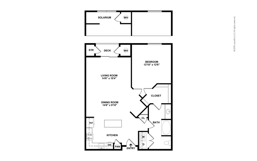 Belleview 1 bedroom 1 bath 889 - 947 square feet (2)