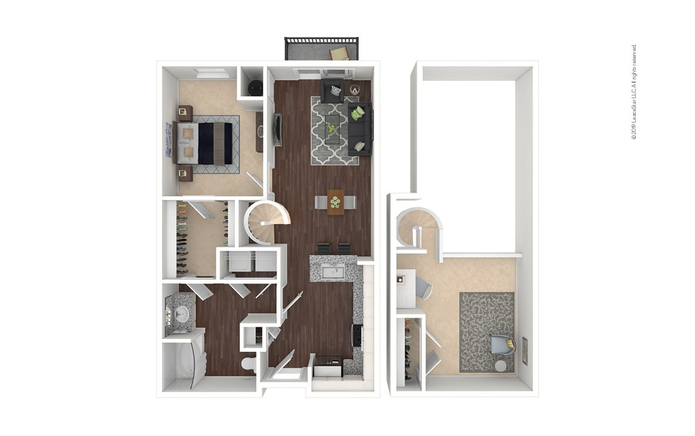 Colorado 1 bedroom 1 bath 954 square feet
