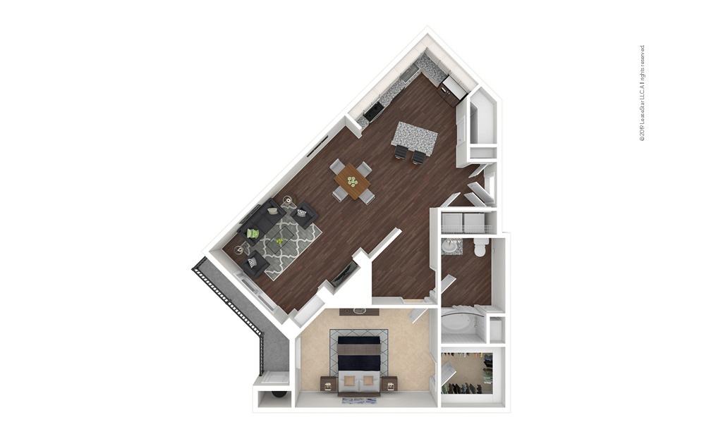 Countyline 1 bedroom 1 bath 891 square feet