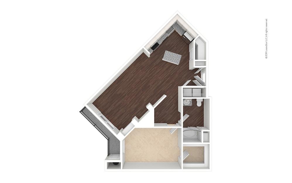 Countyline 1 bedroom 1 bath 891 square feet (1)