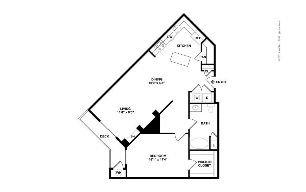 Countyline 1 bedroom 1 bath 891 square feet (2)
