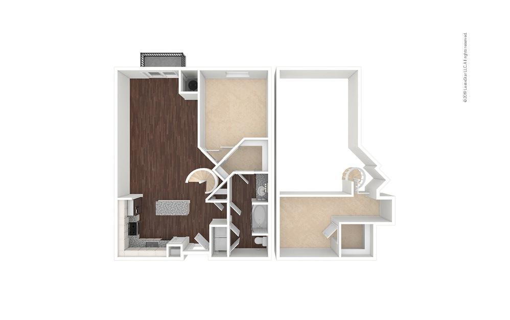 Dayton 1 bedroom 1 bath 1148 square feet (1)