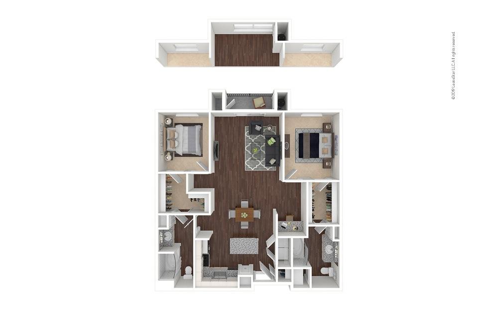 DryCreek 2 bedroom 2 bath 1222 - 1263 square feet