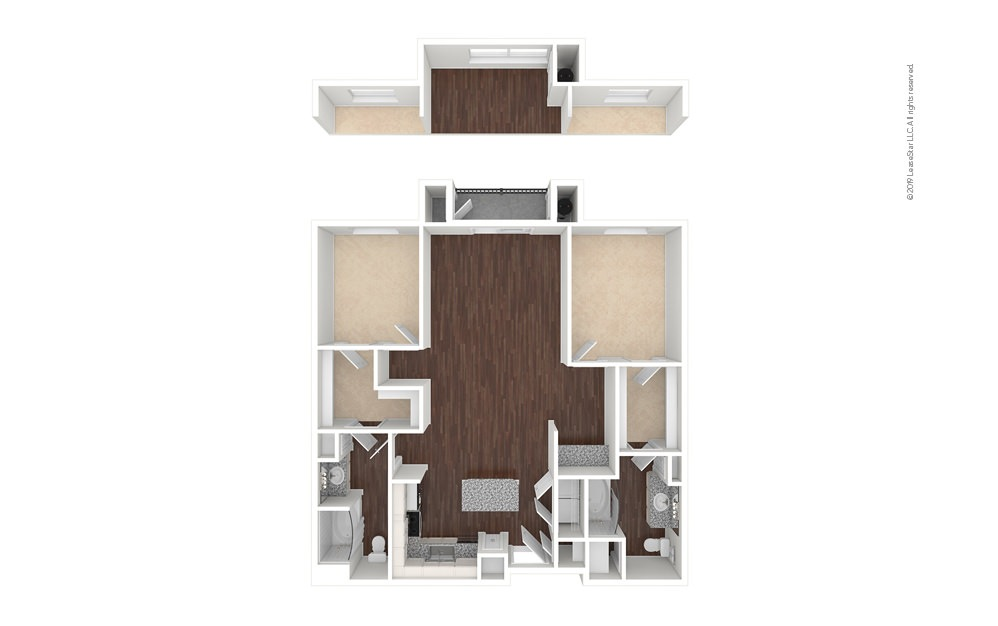 DryCreek 2 bedroom 2 bath 1222 - 1263 square feet (1)