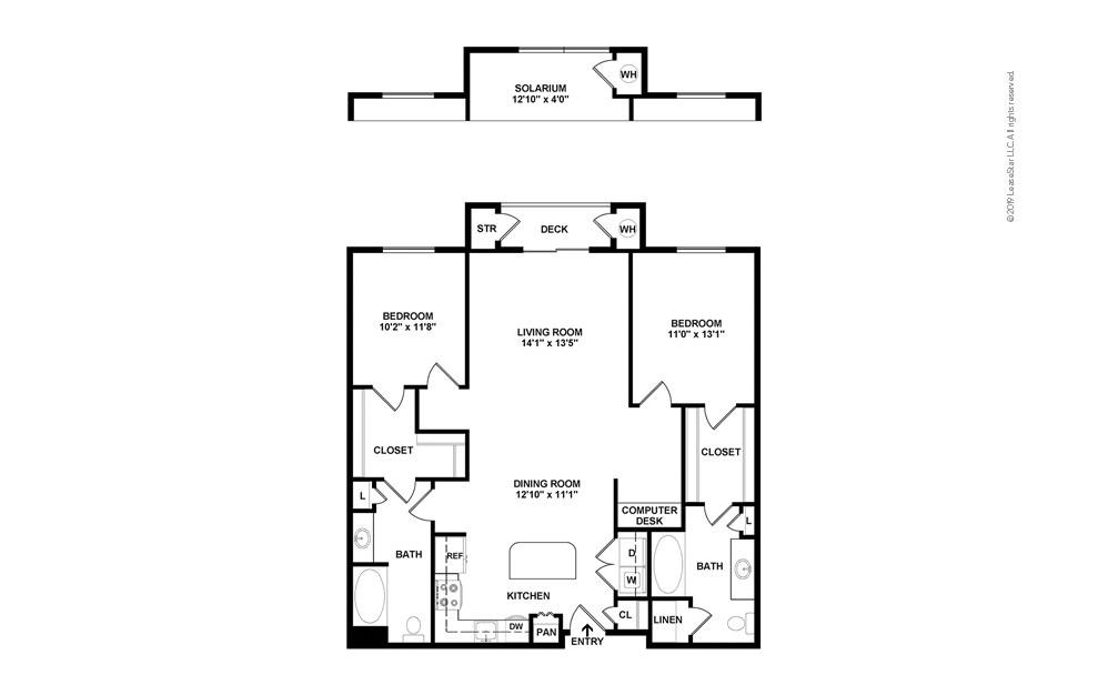 DryCreek 2 bedroom 2 bath 1222 - 1263 square feet (2)