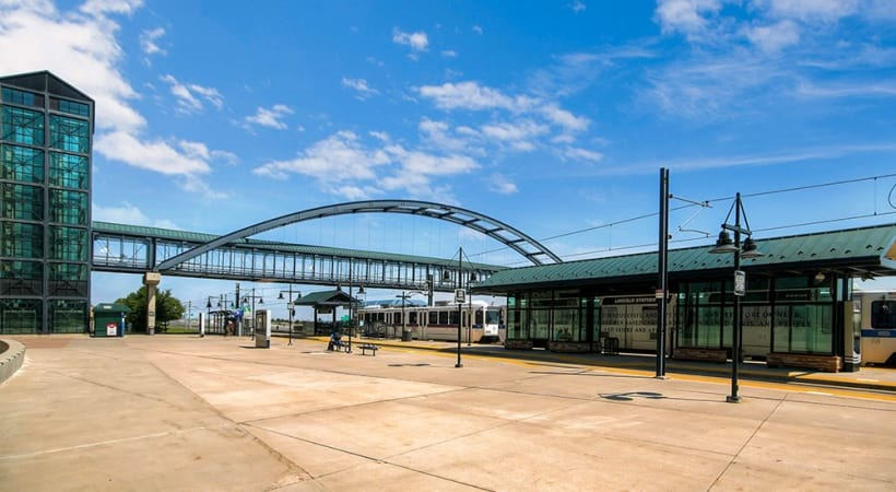 Walkability to Lincoln Light Rail Station at our Lone Tree apartments for rent