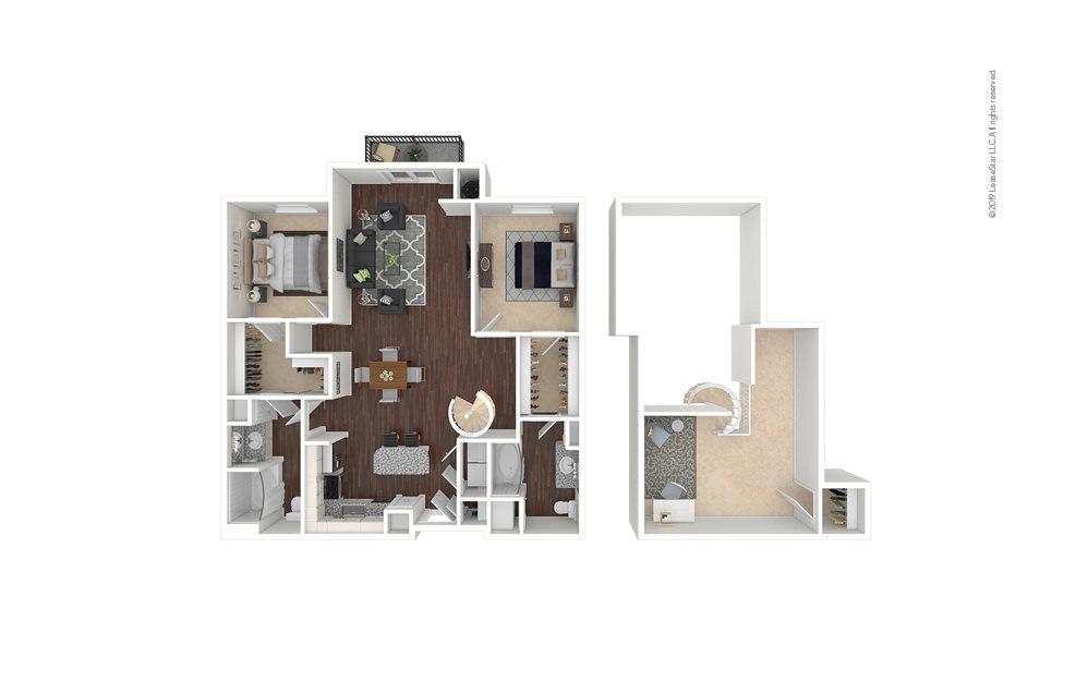 NineMile 2 bedroom 2 bath 1551 square feet