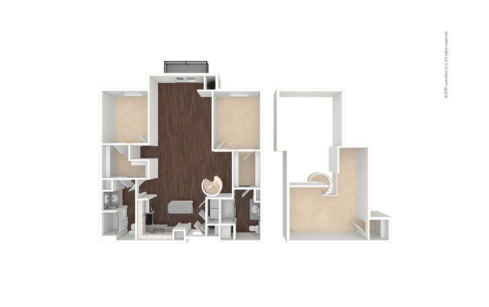 NineMile 2 bedroom 2 bath 1551 square feet (1)