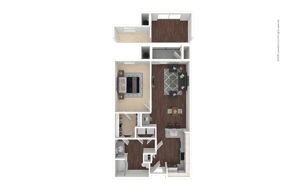 Pearl 1 bedroom 1 bath 721 - 764 square feet