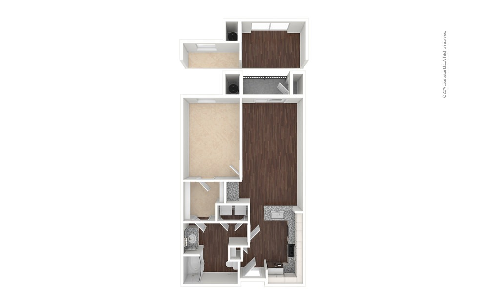 Pearl 1 bedroom 1 bath 721 - 764 square feet (1)