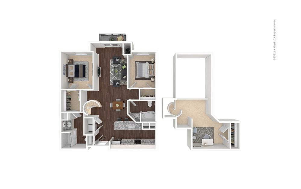 Southmoor 2 bedroom 2 bath 1470 square feet