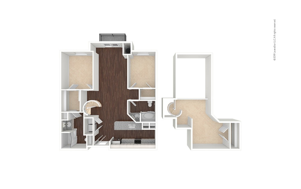 Southmoor 2 bedroom 2 bath 1470 square feet (1)