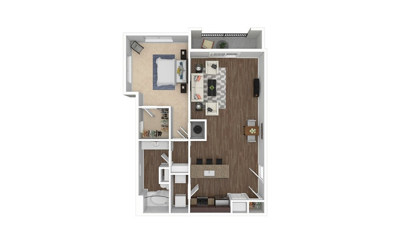 A11 1 bedroom 1 bath 968 square feet