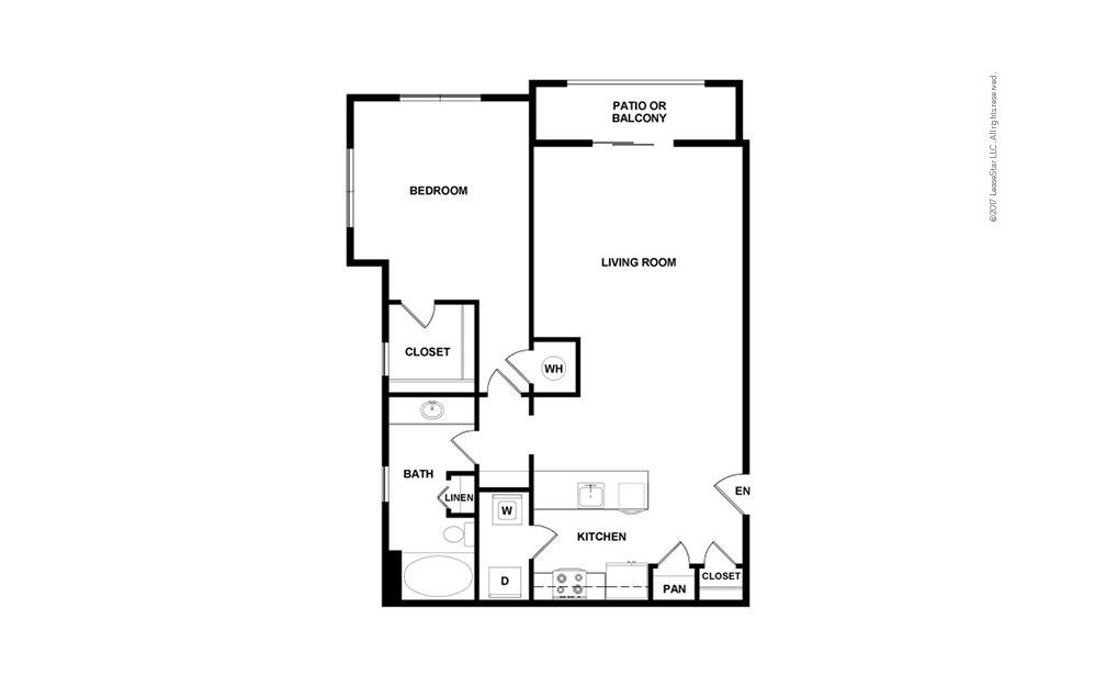 A11 1 bedroom 1 bath 968 square feet (2)