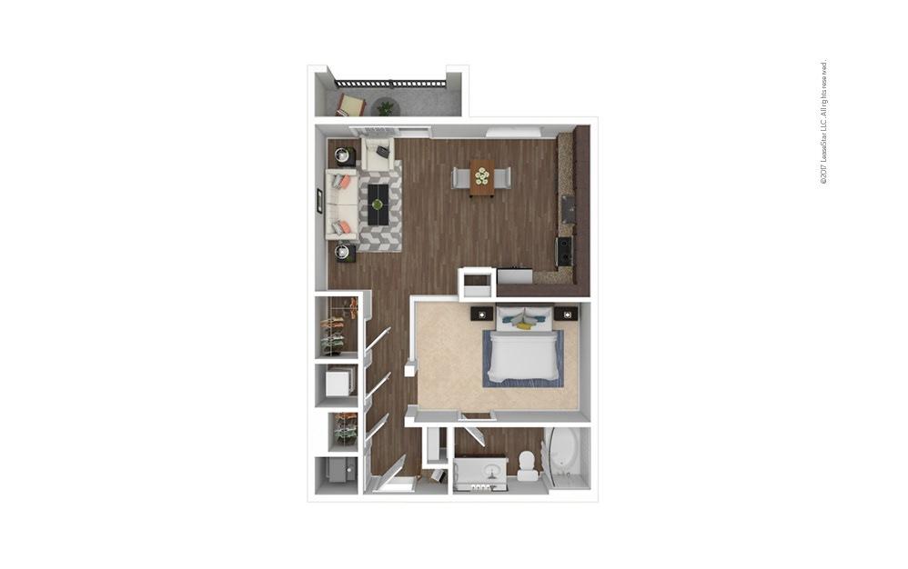 A1 Studio 1 bath 675 square feet