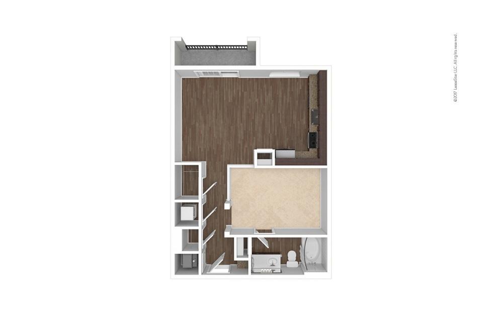 A1 Studio 1 bath 675 square feet (1)