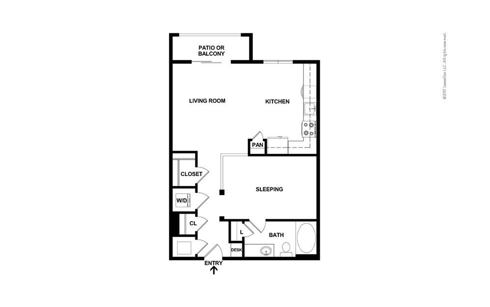 A1 Studio 1 bath 675 square feet (2)
