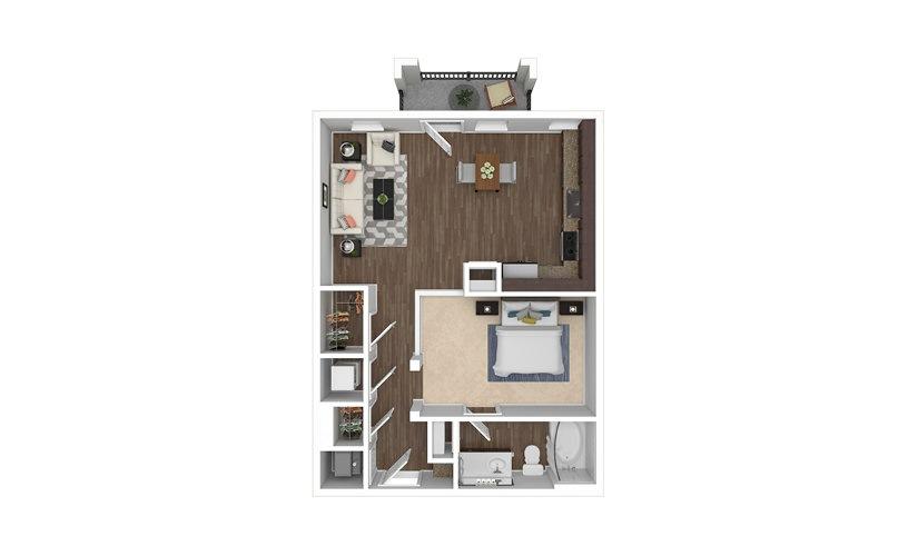 A3 Studio 1 bath 716 square feet