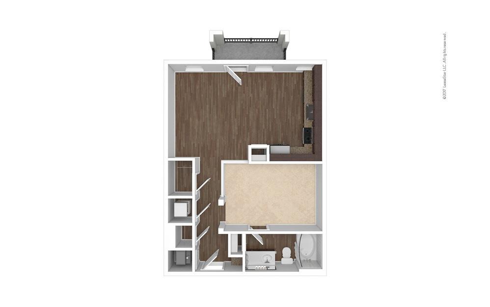 A3 Studio 1 bath 716 square feet (1)