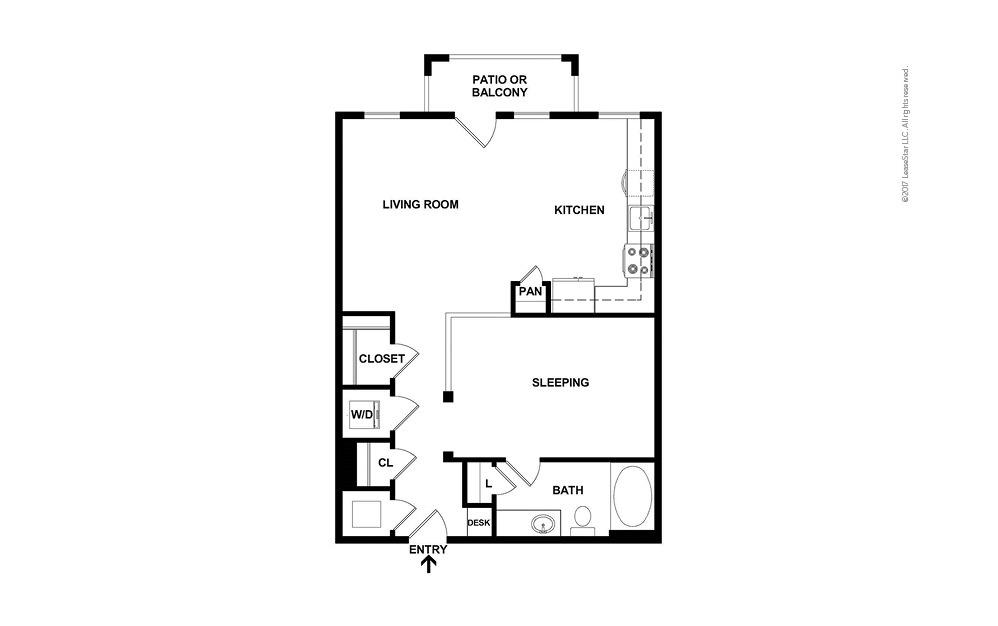 A3 Studio 1 bath 716 square feet (2)