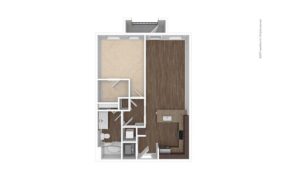 A5 1 bedroom 1 bath 736 square feet (1)