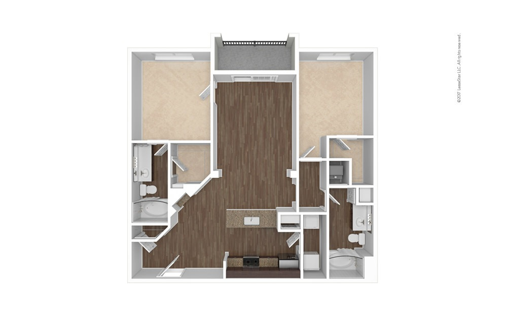 B1 2 bedroom 2 bath 1098 square feet (1)