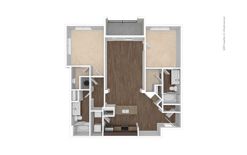 B7 2 bedroom 2 bath 1234 square feet (1)