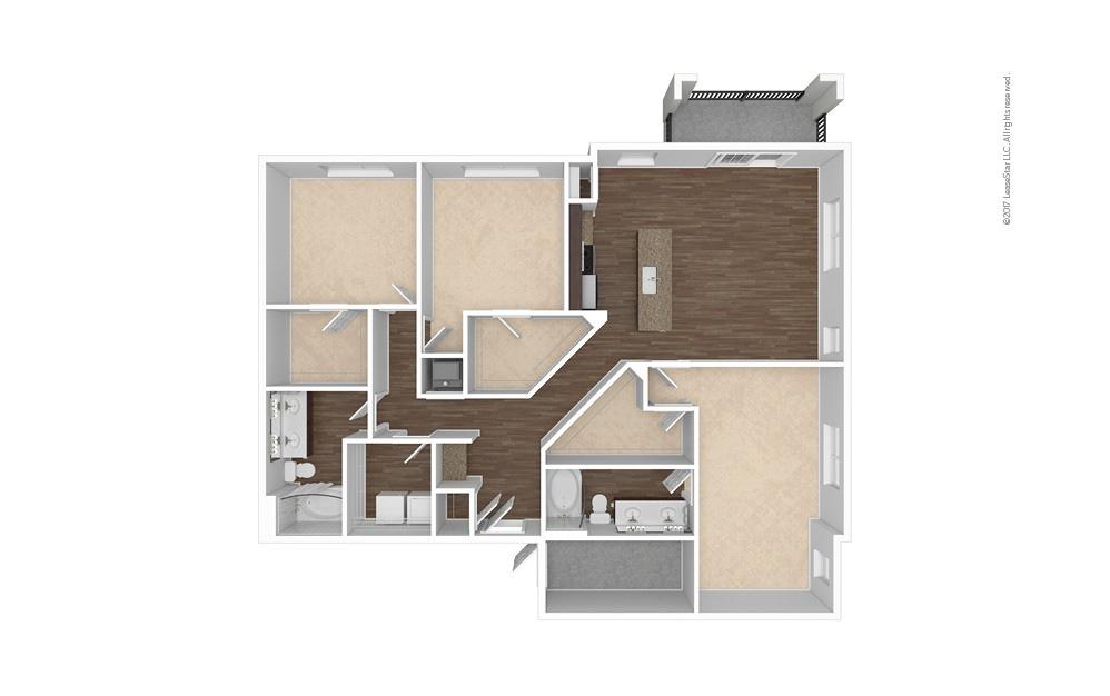 C2 3 bedroom 2 bath 1611 square feet (1)