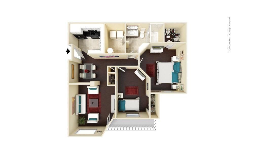 Portman 2 bedroom 1 bath 990 square feet