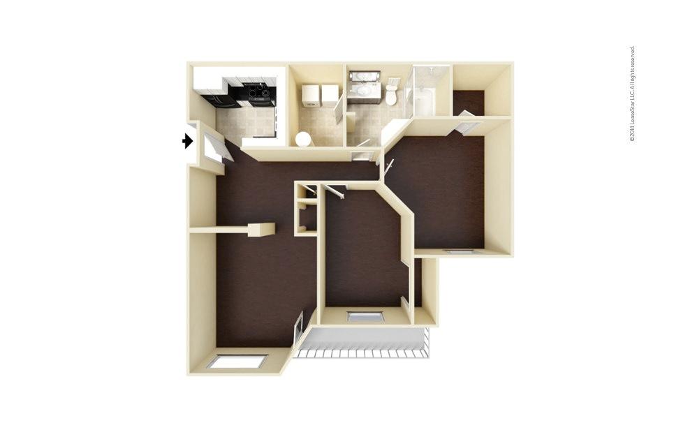 Portman 2 bedroom 1 bath 990 square feet (1)