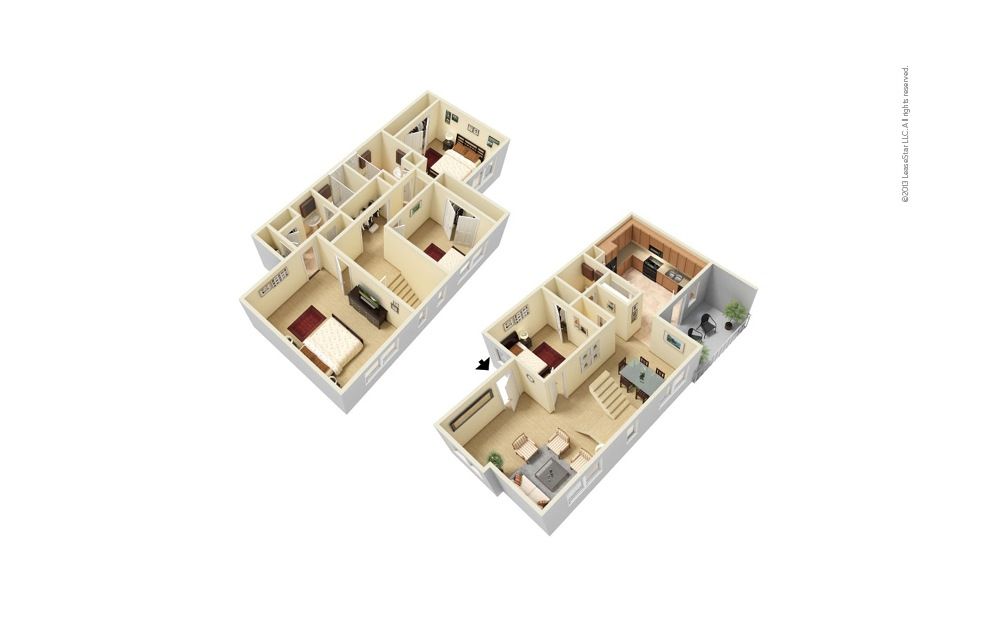 The Mansion 4 bedroom 2.5 bath 1710 square feet
