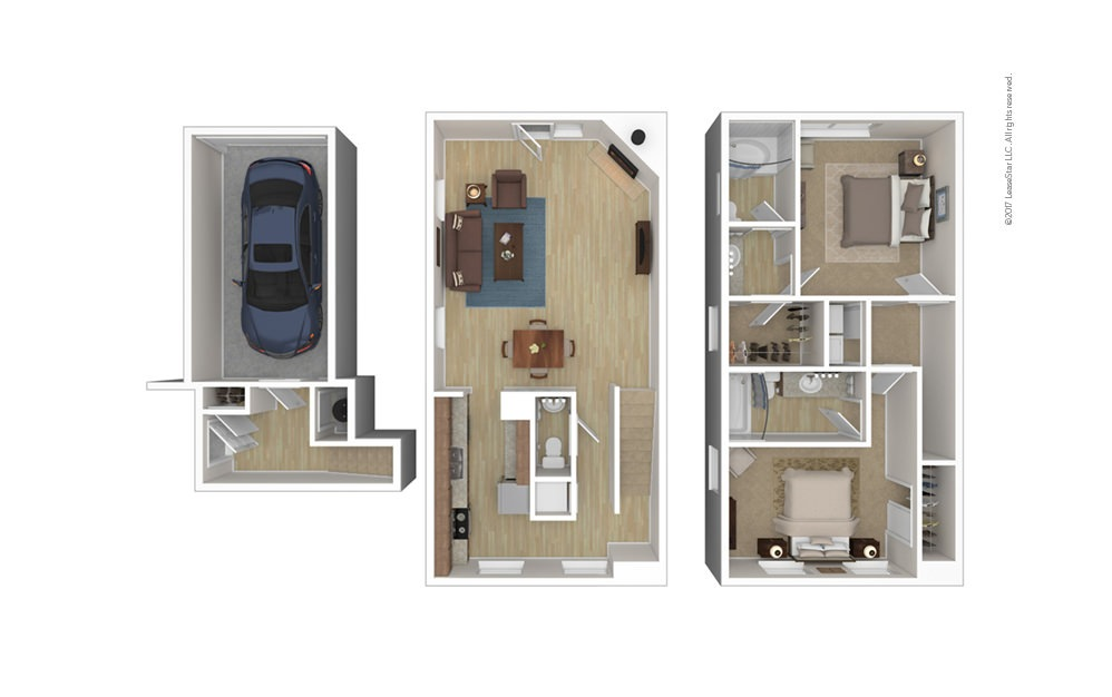Milburne 2 bedroom 2.5 bath 1402 square feet