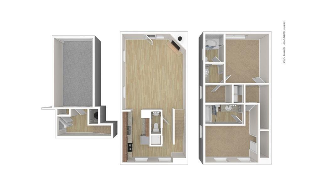 Milburne 2 bedroom 2.5 bath 1402 square feet (1)
