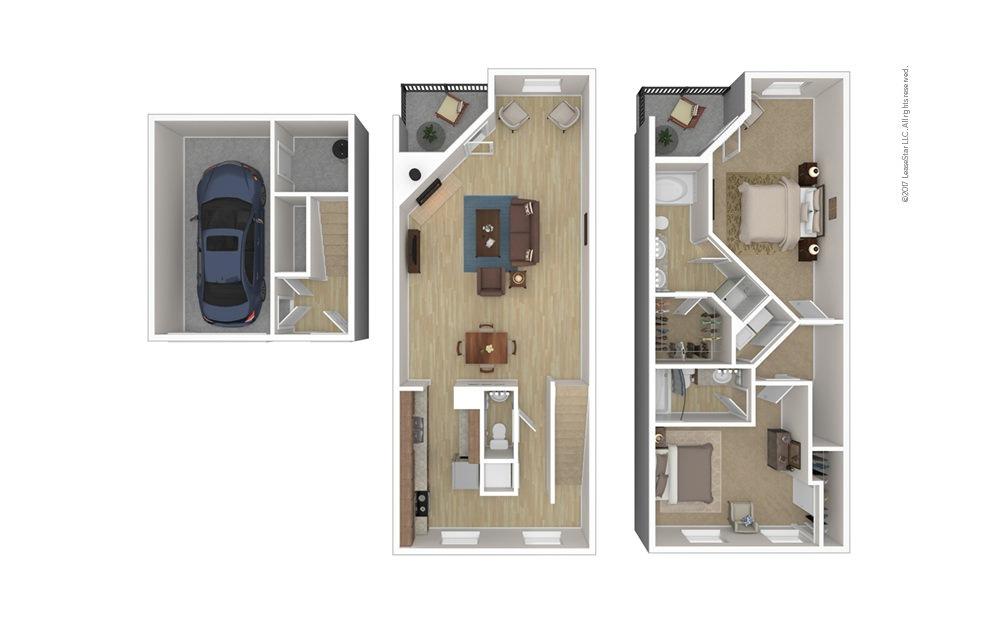 Warwick 2 bedroom 2.5 bath 1754 square feet