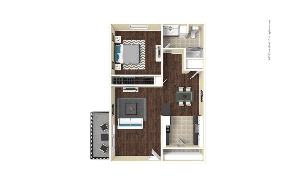 Cedar 1 bedroom 1 bath 675 square feet