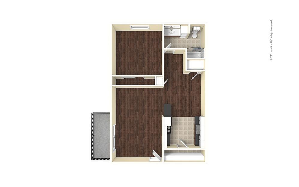 Cedar 1 bedroom 1 bath 675 square feet (1)