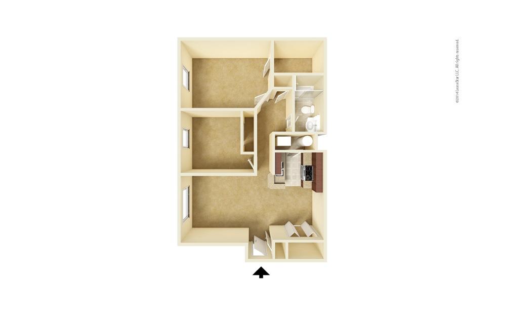 Spindler 2 bedroom 1 bath 844 square feet (1)